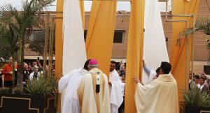 "AS HOLY DOORS CLOSED TODAY AT CATHEDRAL, MISSION OF MERCY THROUGHOUT THE ARCHDIOCESE CONTINUES WITH LAUNCH OF MERCY FUND AND BY YOUR SIDE LA   SoCal faithful to start nine days of prayer tomorrow leading up to Giving Tuesday    As the Jubilee Year of Mercy comes to an end today, the Archdiocese of Los Angeles is launching the Mercy Fund to support the work of chaplains in prisons and hospitals, and ""By Your Side LA,"" an outreach to women and men affected by abortion, to continue and expand the mission of mercy throughout the Church in Los Angeles, Ventura and Santa Barbara counties.   ""This Year of Mercy has been a special blessing for all of us here in Los Angeles – a time for rediscovering the great love that God has for us as our heavenly Father and the importance of living with love and mercy towards our brothers and sisters,"" said Archbishop Gomez. ""As we close the Year of Mercy we want to give thanks to God for his love and we want to rededicate ourselves to being missionaries of his mercy – in our homes, in the places where we work, and in every area of our society.""   During a special Mass today, celebrated by Archbishop José H. Gomez, hundreds gathered at the Cathedral of Our Lady of the Angels to conclude the Jubilee Year of Mercy. Faithful attending the Mass processed outside after Communion led by Archbishop Gomez to the Cathedral Plaza for a final blessing and closing of the ""Archway of Mercy."" Today at the 20 pilgrimage churches of the Archdiocese and all Catholic Cathedrals and churches in the world will close their Holy Doors.    Faithful of the Archdiocese celebrated the Year of Mercy by visiting pilgrimage churches, seeking mercy through confession and reconciliation, visiting the incarcerated and sick, and giving of their time for service projects. Priests and Bishops of the Archdiocese held special events such as ""Mercy in the Streets,"" where they would evangelize and listen to confessions in neighborhoods. The Cathedral"