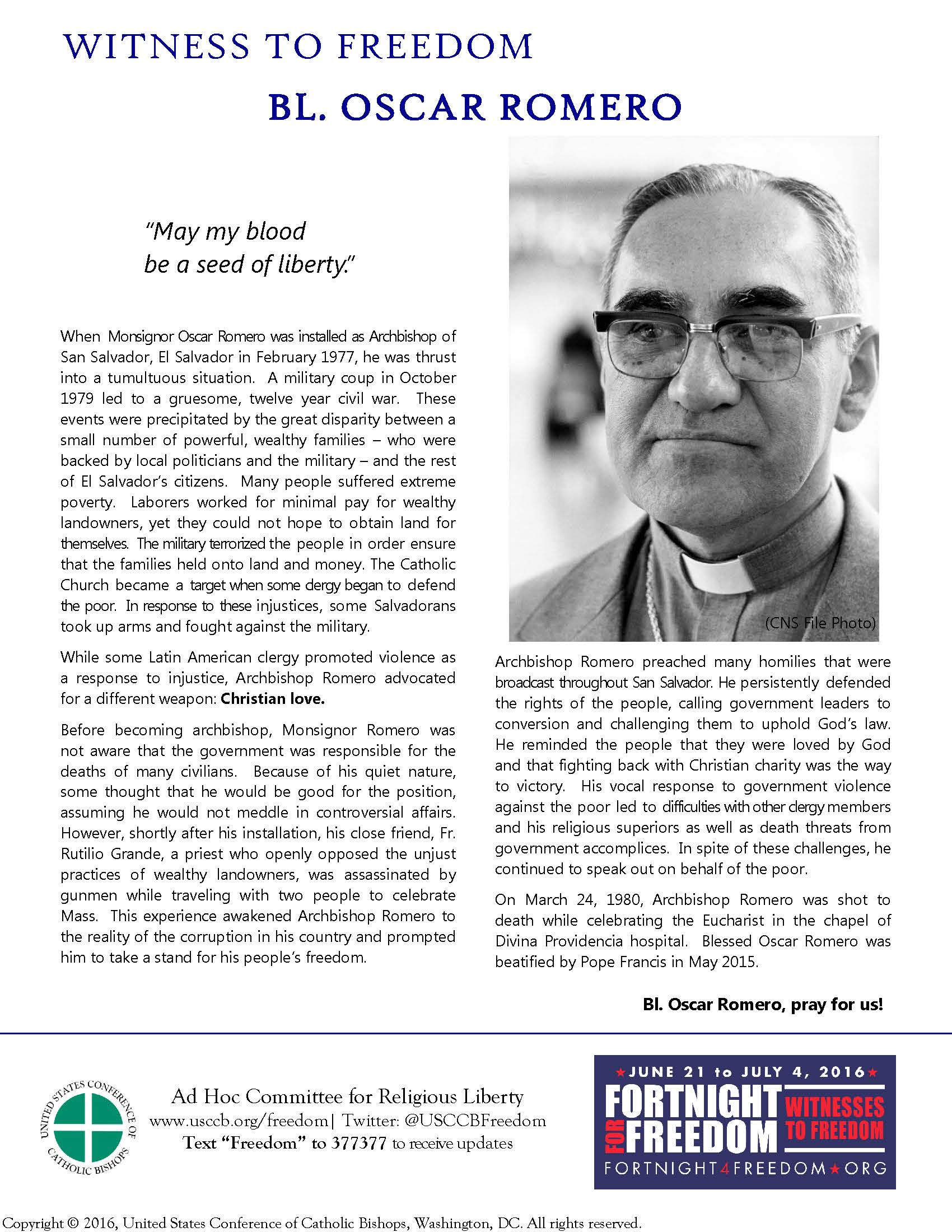 Oscar-Romero-Fortnight-2016